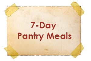 7 Day Pantry Meals